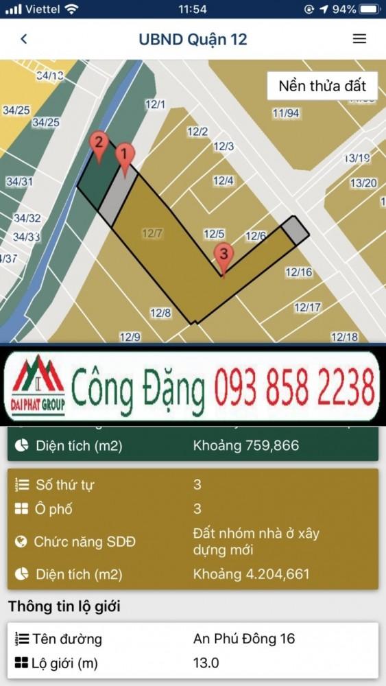 Dat Ban 57000m2 Duong Vuon Lai Thanh Loc Quan 12