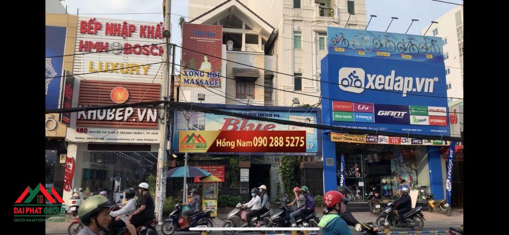 Ban Nha Mat Tien 4xx Nguyen Thi Thap Dt 8x27m Vi Tri Kinh Doanh Nhon Nhip